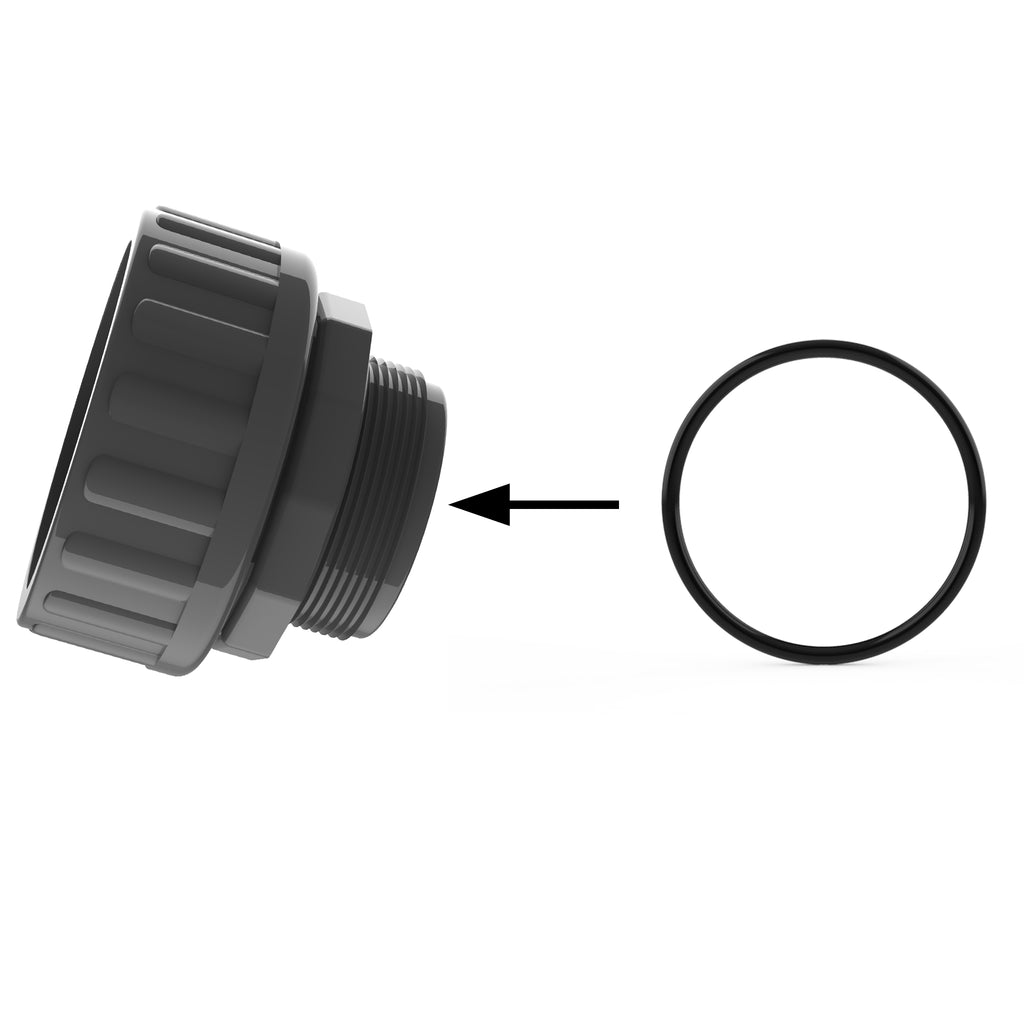 "MIPT Thread Side O-Ring on 2"" Transition & Male Adapter (20200) Comes in a bag quantity of 5"