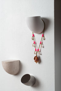 Seven Seashell Necklace Fluorescent Beads