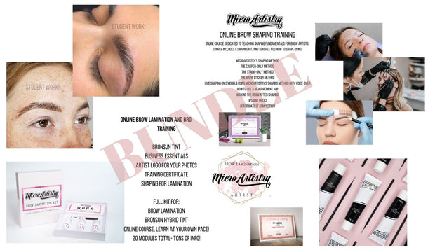 MicroArtistry Course BUNDLE- Brow Lamination + Brow Mapping