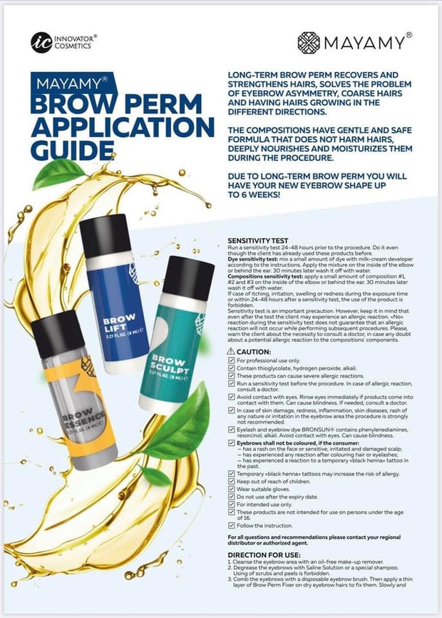 Mayamy Long Term Brow Perm Kit- Official US Distributor