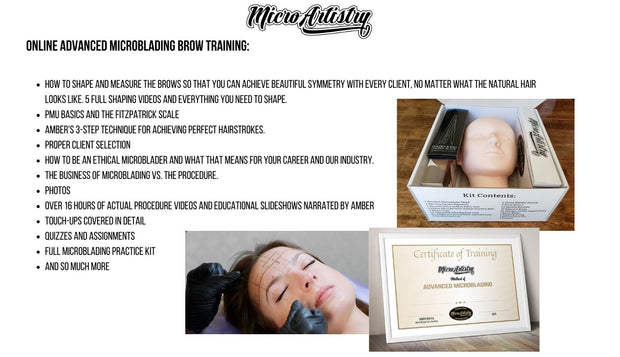 MicroArtistry Online Advanced Microblading Course