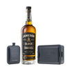 Engraved Jameson Black Barrel 6oz Hip Flask with bottle of Black Barrel