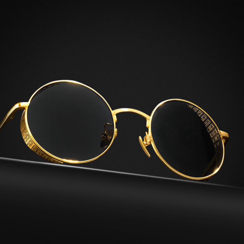 "Golden Titanium Sunglass ""CIRCLE"""