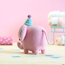 Load image into Gallery viewer, Elvie the Amigurumi Elephant | PDF Crochet Pattern