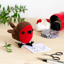 Load image into Gallery viewer, Ted the Amigurumi Red Robin | PDF Crochet Pattern