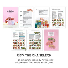 Load image into Gallery viewer, Riso the Amigurumi Chameleon | PDF Crochet Pattern