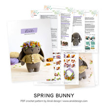 Load image into Gallery viewer, Amigurumi Spring Bunny | PDF Crochet Pattern