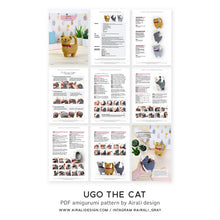 Load image into Gallery viewer, Ugo the Amigurumi Cat | PDF Crochet Pattern