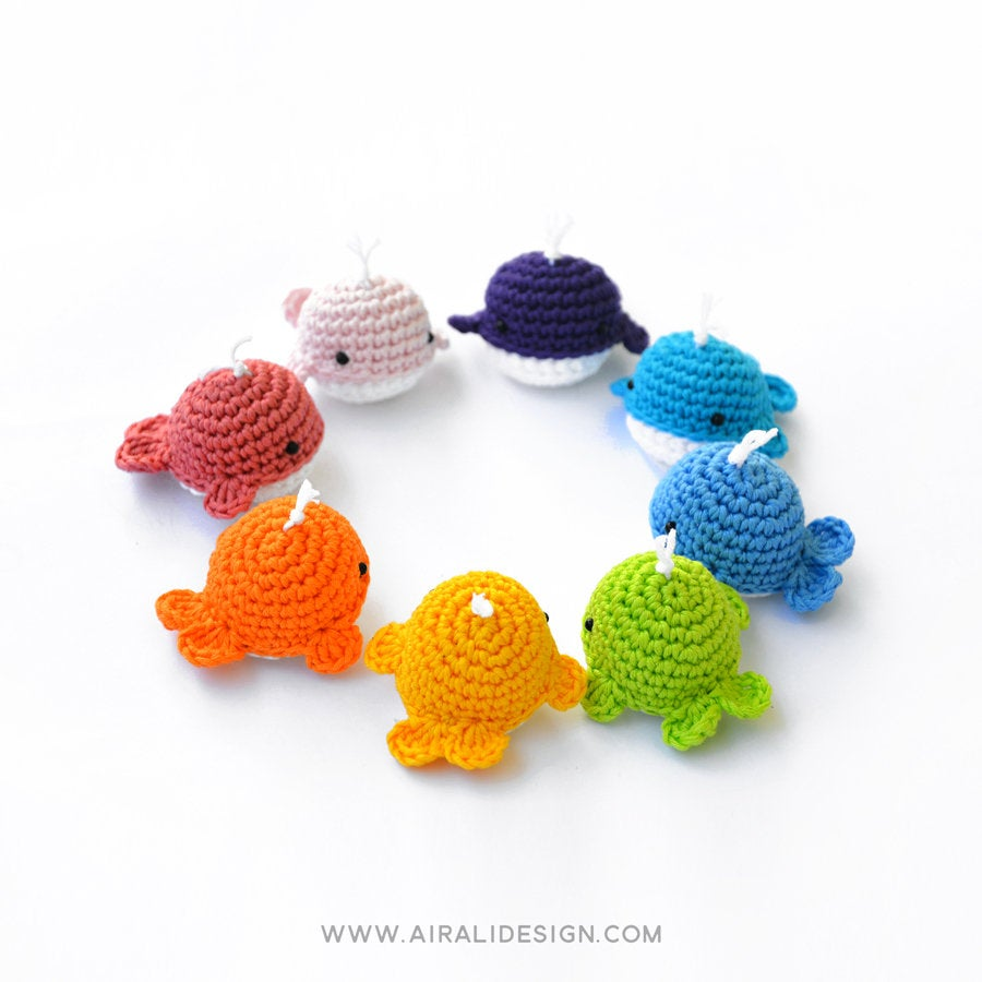 Little Whale | PDF Amigurumi Pattern | Crochet Rainbow