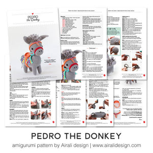 Pedro the Amigurumi Donkey | PDF Crochet Pattern