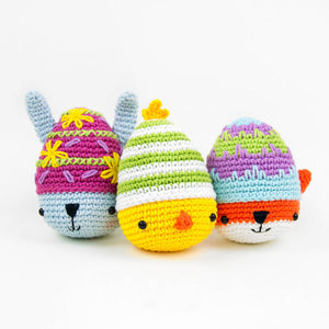 Ami-easter eggs: Amigurumi Bunny, Chick and Fox | PDF Crochet Pattern