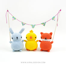 Load image into Gallery viewer, Amigurumi Chubby Friends: Bunny, Chick and Fox | PDF Crochet Pattern