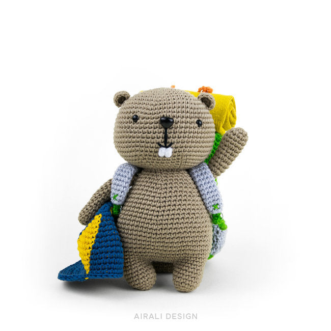 Lenny the Amigurumi Beaver | PDF Crochet Pattern