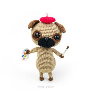 Albert the Amigurumi Pug | PDF Crochet Pattern