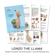 Load image into Gallery viewer, Lonzo the Amigurumi Llama | PDF Crochet Pattern