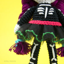 Load image into Gallery viewer, Sugar Skull Amigurumi Mexican Doll | PDF Crochet Pattern