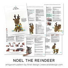 Load image into Gallery viewer, Noel the Amigurumi Reindeer | PDF Crochet Pattern