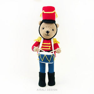 Nutcracker Amigurumi Bear | PDF Crochet Pattern