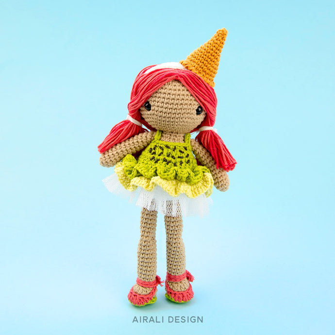 Lorena the Ice-cream Amigurumi Doll | PDF Crochet Pattern