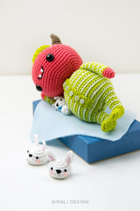 Mandarino the Amigurumi Baby Devil in Pajama | PDF Crochet Pattern