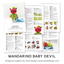 Load image into Gallery viewer, Mandarino the Amigurumi Baby Devil in Pajama | PDF Crochet Pattern