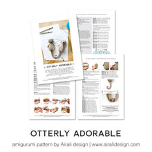 Load image into Gallery viewer, Amigurumi Otters in Love | PDF Crochet Pattern