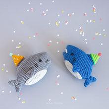 Load image into Gallery viewer, Party Shark Amigurumi | PDF Crochet Pattern
