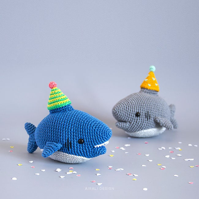 Shark Crochet Pattern Mini Sharks Amigurumi Crochet Pattern These ... | 650x650