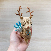 Load image into Gallery viewer, Little Peryton Amigurumi | Fantasy Mythological Creature | PDF Crochet Pattern