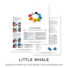 Load image into Gallery viewer, Little Whale | PDF Amigurumi Pattern | Crochet Rainbow