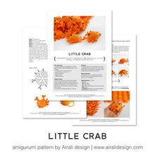 Load image into Gallery viewer, Amigurumi Little Crab | PDF Crochet Pattern