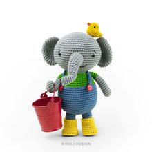 Load image into Gallery viewer, Martin the Amigurumi Elephant | PDF Crochet Pattern