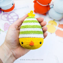 Load image into Gallery viewer, Ami-easter eggs: Amigurumi Bunny, Chick and Fox | PDF Crochet Pattern