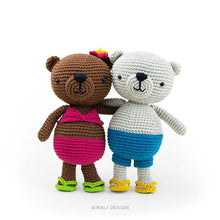 Load image into Gallery viewer, Jim and Alani, Amigurumi Bears | PDF Crochet Pattern