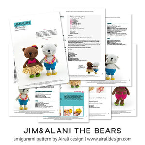 Jim and Alani, Amigurumi Bears | PDF Crochet Pattern
