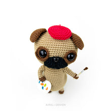Load image into Gallery viewer, Albert the Amigurumi Pug | PDF Crochet Pattern