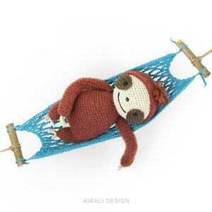 Brando the Amigurumi Sloth | PDF Crochet Pattern