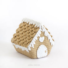 Load image into Gallery viewer, Nordic Gingerbread House | PDF Crochet Pattern
