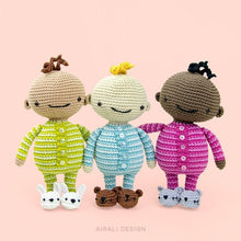 Load image into Gallery viewer, Baby Amigurumi in Pajama | PDF Crochet Pattern