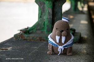 Caterino the Amigurumi Sailor Walrus | PDF Crochet Pattern