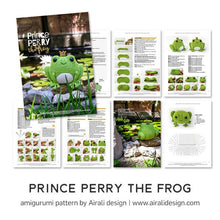 Load image into Gallery viewer, Prince Perry the Amigurumi Frog | PDF Crochet Pattern