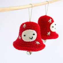 Load image into Gallery viewer, Amigurumi Christmas Decorations. 3 Crochet patterns in a PDF: Angel, Bell and Star