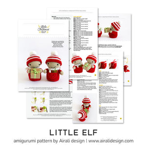 Christmas Elf Amigurumi | PDF Crochet Pattern