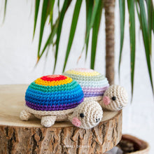 Load image into Gallery viewer, Amigurumi Rainbow Tortoise | PDF Crochet Pattern | NO sewing required!
