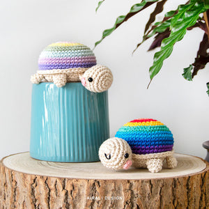 Amigurumi Rainbow Tortoise | PDF Crochet Pattern | NO sewing required!