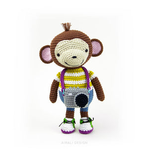 Barney the Amigurumi Monkey | PDF Crochet Pattern