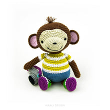 Load image into Gallery viewer, Barney the Amigurumi Monkey | PDF Crochet Pattern
