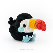 Load image into Gallery viewer, Toco the Amigurumi Toucan | PDF Crochet Pattern