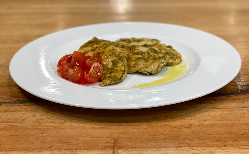 Grilled Chicken With Pesto And Tomatoes