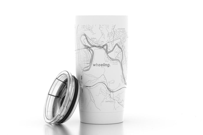 Wheeling City Map Insulated Tumbler